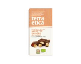 Chocolat au lait aux noisettes entières 42%