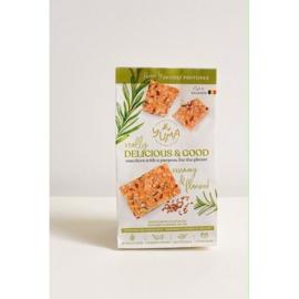 Crackers lijnzaad, rozemarijn en cricketmeel (90g)