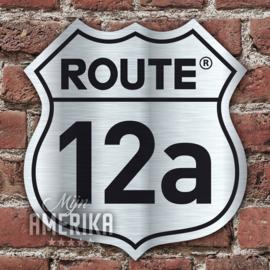 Route ## gevelbord met eigen huisnummer | aluminium