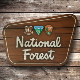 Nat. Forest Sign | dibond