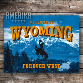 Wyoming welcome sign | aluminium