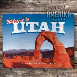 Utah welcome sign | aluminium