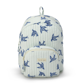 Holi & Love // Kids backpack - blue bird