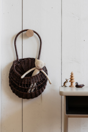 Meri-Lou // Wall basket 'Emilou' (dark brown)
