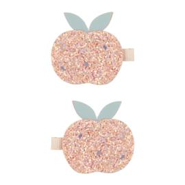 Mimi & Lula // Glitter peach clips