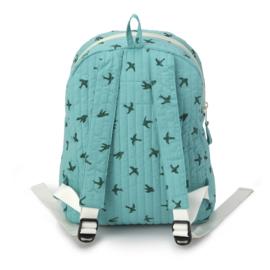 Holi & Love // Kids backpack - green bird