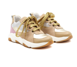 Multicoloured leather sneakers