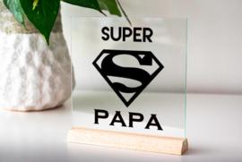 Glasplaatje super papa
