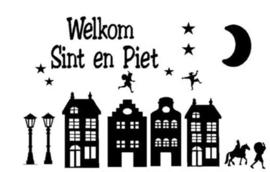 Sinterklaas Raamsticker | Welkom Sint en Piet