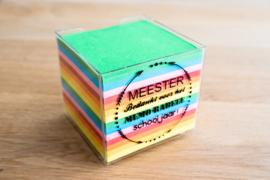 Memoblok Meester