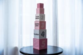 Stapeltoren roze