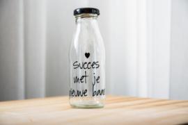 Melkflesje succes met je nieuwe baan