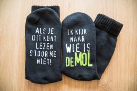 Sokken 'Wie is de Mol'