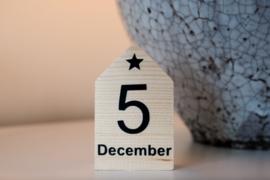 Houten huisje '5 december'