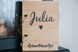 Kaartjeshouder geboortekaartjes 'Julia'