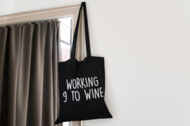 Katoenen tas | Working 9 to Wine