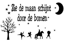 Sinterklaas Raamsticker | Zie de maan schijnt