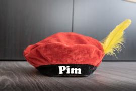 Pietenmuts met naam - Rood