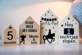Houten huisjes set Sinterklaas