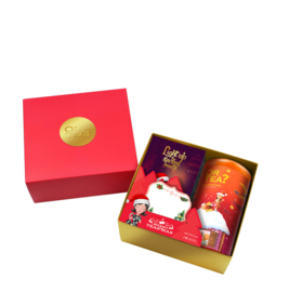 The Xmas Box ( Tin + candle)