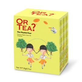 The Playful Pear - Zwarte thee met roos