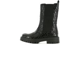 Shoesme - Hoge chelseaboots - Black croco