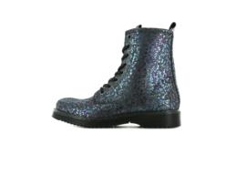 Shoesme - Bikerboots - Blue purple metallic