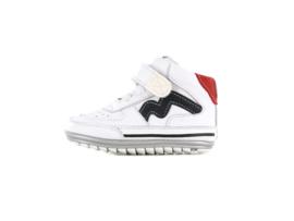 Shoesme Babyproof witte sneaker met blauwe striping