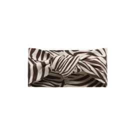 Little Indians - Haarband Knoop Zebra - Fondue Fudge One Size
