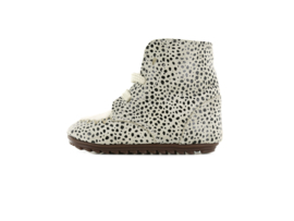 Shoesme Babyproof smart - Beige black dots ponyhair