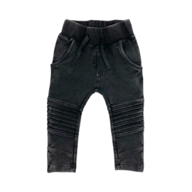 KMDB - Pants Bikerpants Vic - Acid Wash Black