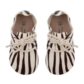 Little Indians Oxford booties Zebra