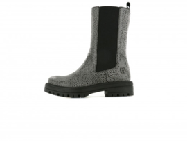 Shoesme - Hoge chelseaboots - Grey black dots
