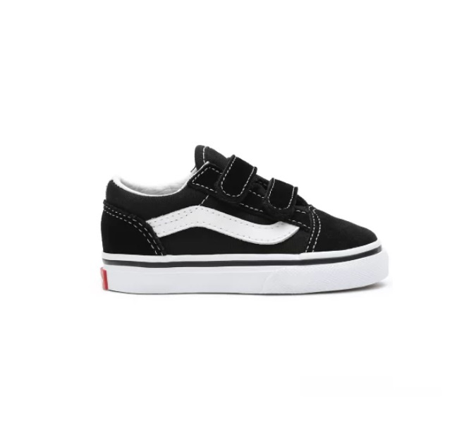 Vans Old Skool  Velcro Black/True white