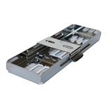 Push Bar Instrumenten Tray - 3 instrumenten WIT /per tray
