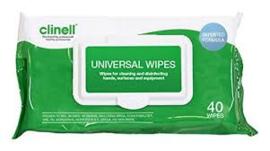 Clinell Universal wipes (pH-neutraal) 40st NIET BESCHIKBAAR