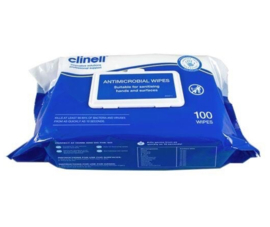 Clinell antimicrobial wipes (Ethanol-base) 100st
