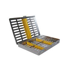 Cassettes met deksel - 5 instrumenten BLAUW /per tray