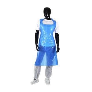 PAL - Wegwerpschort Plastic Blauw /200st UITVERKOCHT