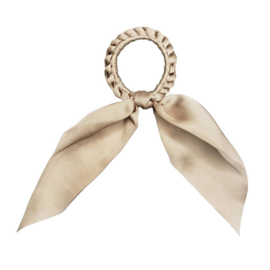 Darling - Short Tail Silk Scrunchie (Sand)