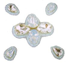 Naomi- Bandless, Clipless Jewels  (Set of 5 ) - Iridescent Mint