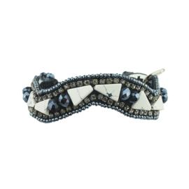 Melinda - Armband Zwart/Wit