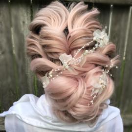 Marie Antoinette of France - Ribbon Hair Vine (Rose Gold)