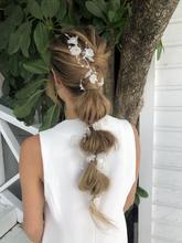 Anne Boleyn of England - Ribbon Hair Vine (Silver)