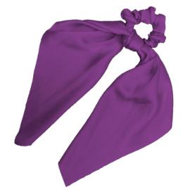 weet Sixteen - Zijde Scrunchie met lint (purple)