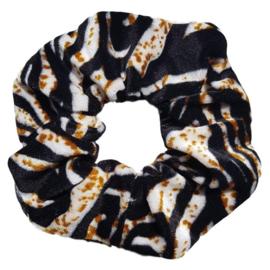 Fluwelen Scrunchie (zebra)