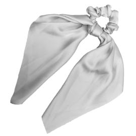 Sweet Sixteen - Long Tail Silk Scrunchie (Silver)