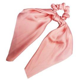 Sweet Sixteen - Long Tail Silk Scrunchie (peach)