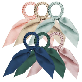 Darling - Short Tail Silk Scrunchie Sweetheart Pack (6pcs)