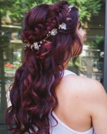 Anne Boleyn of England - Ribbon Hair Vine (Rose Gold)